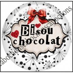 1 CABOCHON  résine Cabochons Rond 25mm  Ref 11656 Bisous,rouge et blanc,noir,flot,coeur,rouge,coeur,cadeau, porte clés création,bijou cabochon,cadeau,offrir
