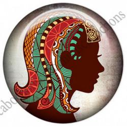 1 CABOCHON  résine Cabochons Rond 25mm  Ref 4851 Vierge,Astrologie,signe du zodiaque,signes astrologique,tribal,. textes,écritures