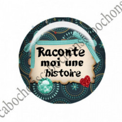 1 CABOCHON  résine Cabochons Rond 25mm  Ref 2754 Les Histoires....,fleurs ,Vert anis...., strass,diamant....Petits pois,fleurs  textes,écritures
