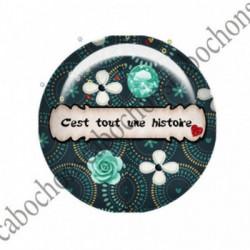1 CABOCHON  résine Cabochons Rond 25mm  Ref 2752 Les Histoires....,fleurs ,Vert anis...., strass,diamant....Petits pois,fleurs  textes,écritures