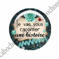 1 CABOCHON  résine Cabochons Rond 25mm  Ref 2751 Les Histoires....,fleurs ,Vert anis...., strass,diamant....Petits pois,fleurs  textes,écritures