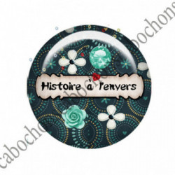 1 CABOCHON  résine Cabochons Rond 25mm  Ref 2747 Les Histoires....,fleurs ,Vert anis...., strass,diamant....Petits pois,fleurs  textes,écritures