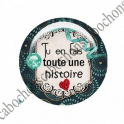 1 CABOCHON  résine Cabochons Rond 25mm  Ref 2745 Les Histoires....,fleurs ,Vert anis...., strass,diamant....Petits pois,fleurs  textes,écritures
