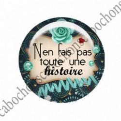 1 CABOCHON  résine Cabochons Rond 25mm  Ref 2744 Les Histoires....,fleurs ,Vert anis,...., strass,diamant....fleurs  textes,écritures