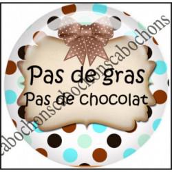 1 CABOCHON  résine Cabochons Rond 25mm  Ref 11543,chocolat, bijou cabochon,cadeau,offrir textes,écritures