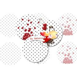 Images digitales 25,20,18,12,30x40,18x25mm Coccinelle retro polka écritures,textes,messages ,images pour cabochons