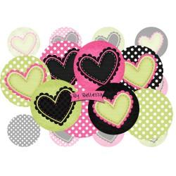 Images digitales 25mm Coeur,love,amour,écritures,textes,messages ,images pour cabochons