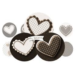 Images digitales 25,20,18,18x25,30x40mm Coeur,love,marron beuge écritures,textes,messages ,images pour cabochons