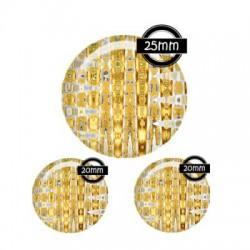Parure cabochon verre 25mm,20mm Motifs,fashion,design,tourbillons & Cie