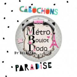 25mm VERRE, 1 Cabochons  verre 25mm  Ref 3320Paris,pois,gris,rose,fashion,vintage,retro 1€,cabochon verre 25mm,collection cabochons paradise,bijou