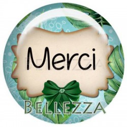 20mm VERRE, 2 Cabochons verre 20mm, tropical, Merci