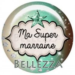 25mm RESINE,1 Cabochon resine 25mm, Menthe, marron, Ma super Marraine