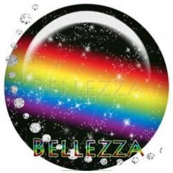 20mm verre,2 Cabochon verre 20mm , Arc en ciel, espace, multicolore
