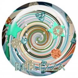 20mm verre,2 Cabochons verre 20mm, design, fashion, geometrique, etoile