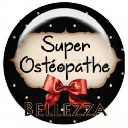 20mm verre,2 Cabochons verre 20mm, Super osteopathe