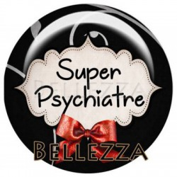 18mm verre,2 Cabochons verre 18mm, Super psychiatre