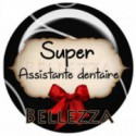 25mm RESINE ,1 Cabochon resine 25mm, Super assistante dentaire