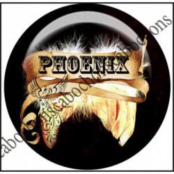 25mm RESINE, 1 Cabochons  en résine  Ref 11137Phoenix,Gothique,fantasy,Légende,Fairy,parchemin,celtique,Textes,écritures,expression,citation,humour,offrir,cadeau,création bijoux cabochons