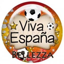 25mm RESINE, 1 Cabochon resine 25mm, Sport, Foot, Espagne