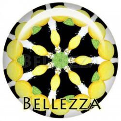 25mm RESINE, 1 Cabochon resine 25mm, Citron, fruit, lemon