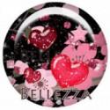 18mm verre, 2 Cabochons verre 18mm, fleurs, cerisiers, romantique