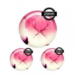 Parure verre, 25mm, 20mm cabochon verre geometrique, design, by bellezzacreas