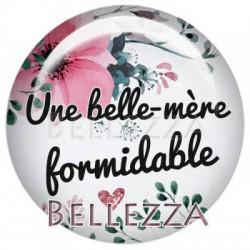 25mm RESINE, 1 Cabochon resine 25mm, formidable, belle-mere