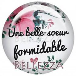 25mm RESINE, 1 Cabochon resine 25mm, formidable, belle-s?ur