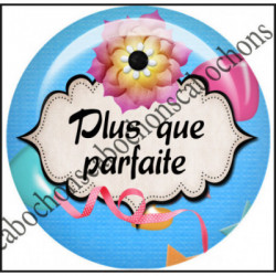 Cabochons  résine 25mm  Ref 10993Plus que parfaite,fiesta,multiocolore,mauvaise humeur,Vulgaire,texte message,Love,rose,coeur,romantique,bellezza...,,romantique,Fashion,cabochon en résine ,bijou cabochon,25mm
