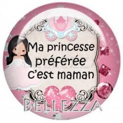 25 mm VERRE, 1 Cabochon verre 25mm, fees, princesse, fille, couronne