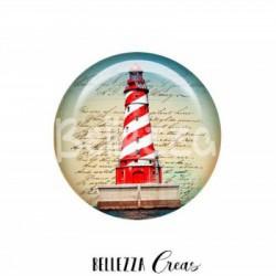 25 mm RESINE, 1 Cabochon resine 25mm, Phare, marin, mer