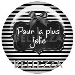 25mm RESINE, 1 Cabochon resine 25mm, noir et blanc, La plus ?.