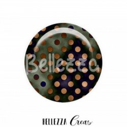 25mm RESINE, 1 Cabochon resine 25mm, Petits pois, retro, fashion