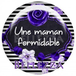 25mm RESINE, 1 Cabochon resine 25mm, formidable, maman