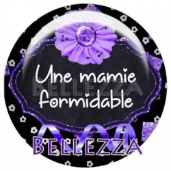 25mm RESINE, 1 Cabochon resine 25mm, formidable, mamie