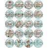 Cabochon verre 20mm, collection, gros lot, Thème Auxiliaire de Vie