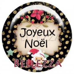 Cabochon resine 25mm, x 1 , noel, bonne annee, festif, lama, gold, or et noir