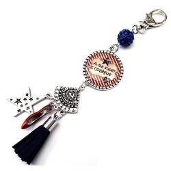 Bijoux de sac, porte clés, pompon, bijoux cabochon, une collègue d'amour