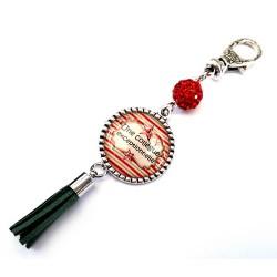 Bijoux de sac, porte clés, pompon, bijoux cabochon, pour la plus formidables des collègues