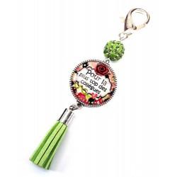 Bijoux de sac, porte clés, pompon, bijoux cabochon, une collègue exeptionnelle