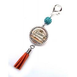Bijoux de sac, porte clés, pompon, bijoux cabochon, pour la plus top des collègues