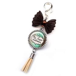Bijoux de sac, porte clés, pompon, bijoux cabochon, une maîtresse formidable