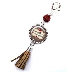 Bijoux de sac, porte clés, pompon, bijoux cabochon, la meilleure des maîtresses