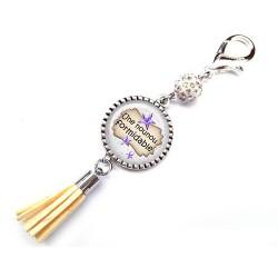 Bijoux de sac, porte clés, pompon, bijoux cabochon, pour  ma plus formidable des nounous