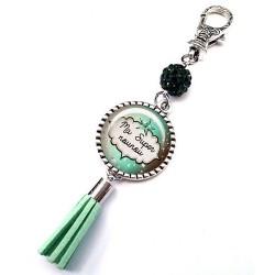 Bijoux de sac, porte clés, pompon, bijoux cabochon, nounou d'amour