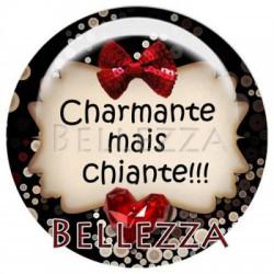 Cabochon verre 20mm, x 2,  saint valentin, amour, love, rouge et noir