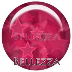 Cabochon verre 20mm, x 2, auxiliaire de puericulture, rose framboise