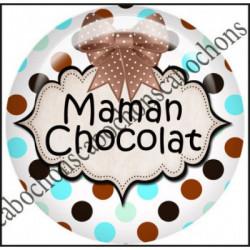 25mm RESINE,Cabochons  en résine 25mm  Ref 10444Maman,Chocolat,menthe,rayures,amour,love,gourmandise,j'aime..,cabochon en résine 25mm