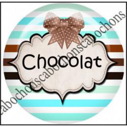 25mm RESINE,Cabochons  en résine 25mm  Ref 10425Chocolat,menthe,rayures,amour,love,gourmandise,j'aime..,cabochon en résine 25mm