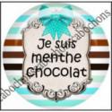 25mm RESINE,Cabochons  en résine 25mm  Ref 10426Chocolat,menthe,rayures,amour,love,gourmandise,j'aime..,cabochon en résine 25mm